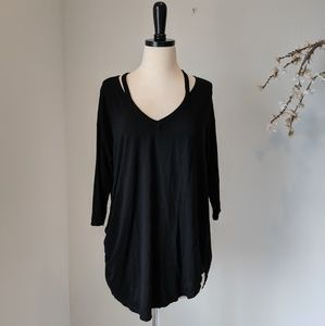 MICHAEL STARS NWOT Black Basics Long Sleeve 2391